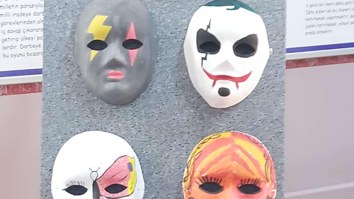 Maske Boyama Sanati Ve Sergisi Evliya Celebi Imam Hatip Ortaokulu